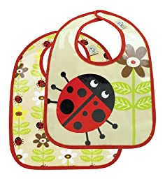 Sugarbooger Mini Bib Gift Set, Lady Bug, 2 Count