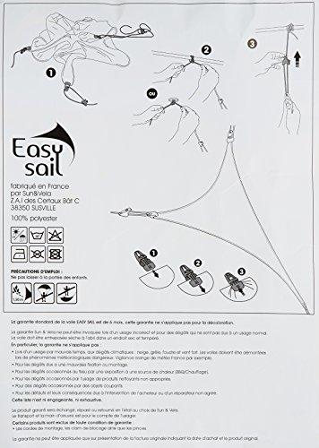 Easy Sail ESRA200 - Vela de sombra para patio