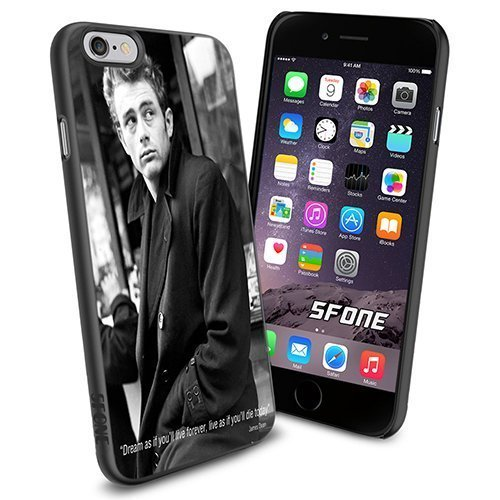James Dean Quotes Apple Smartphone iPhone 6 4.7 inch Case Cover Collector TPU Soft Black Hard Cases (Dean Quotes compare prices)