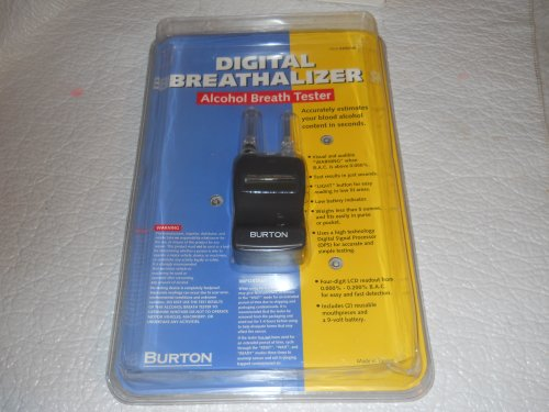 Cheap Digital Breathalizer Alcohol Breath Tester 306746 Burton (B009E9S2NA)