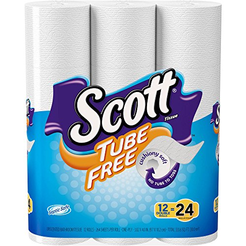 Toilet Paper, Mega Roll 12 Rolls Equals 24 Rolls White - Soft - Strong Comfortable Wipe - 400 One-Ply Sheets Per Roll (Scott Natural Wipes compare prices)