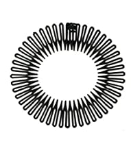 Black Circular Flexible Hair Combs Headband