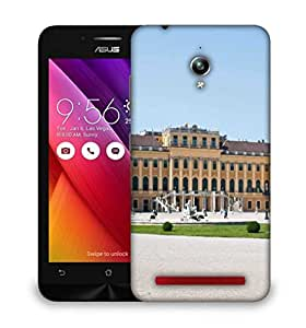 Snoogg Yellow Palace Designer Protective Phone Back Case Cover For Asus Zenfone GO