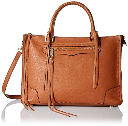 Rebecca Minkoff Regan Satchel Tote Shoulder Bag, Almond, One Size