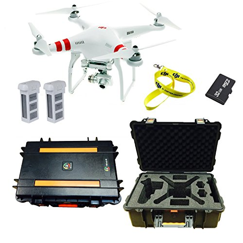 Fantastic Deal! DJI Phantom 2 Vision+ Quadcopter with FPV Hdra, DJI Case, 32GB Micro SD, Lanyard, Ex...
