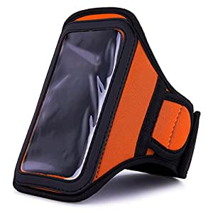 VangoddyTM Athlete's Choice Orange Neoprene Workout Armband