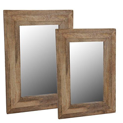 Wandspiegel-im-Holzrahmen-Spiegel-Mango-Natur-Rahmen-Massiv-Hngespiegel-Badezimmer-40x50cm
