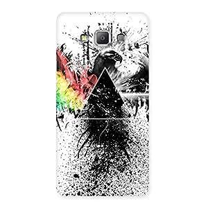 Special Prism Eagle Multicolor Back Case Cover for Galaxy A7