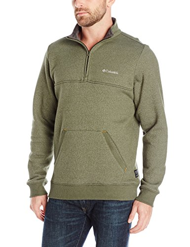 Columbia Men's Great Hart Mountain II Half Zip, Surplus Green Heather, Large