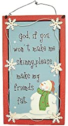 Funny Dieters Christmas Snowman Friendship Wall Plaque