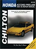 Honda Accord and Prelude, 1984-95 (Chilton