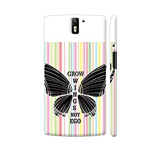 Colorpur Grow Wings Not Ego In Multicolor Artwork On OnePlus One Cover (Designer Mobile Back Case) | Artist: Urvashi