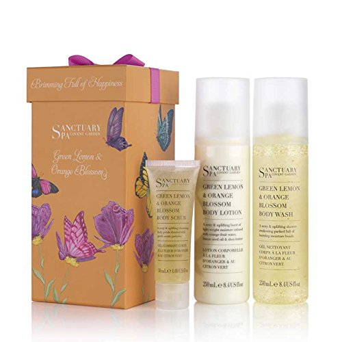 Sanctuary Spa Brimming Full Of Happiness - Green Lemon & Orange Blossom Gift Set
