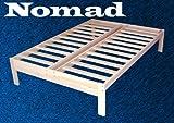 Nomad Solid Hardwood Platform Bed Frame - Queen Size