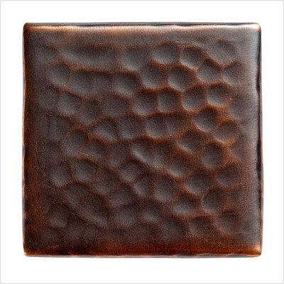 The Copper Factory CF14 Solid Hammered Accent Decorative Tile