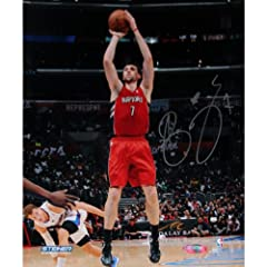 Andrea Bargnani Toronto Raptors Jump Shot Signed 16x20 Photo (Getty #158094072) by Steiner Sports