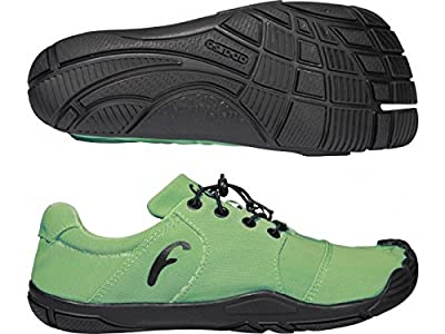 Freet 4+1 Leap Barefoot Mens Ladies Running Trail Shoes Trainers Green