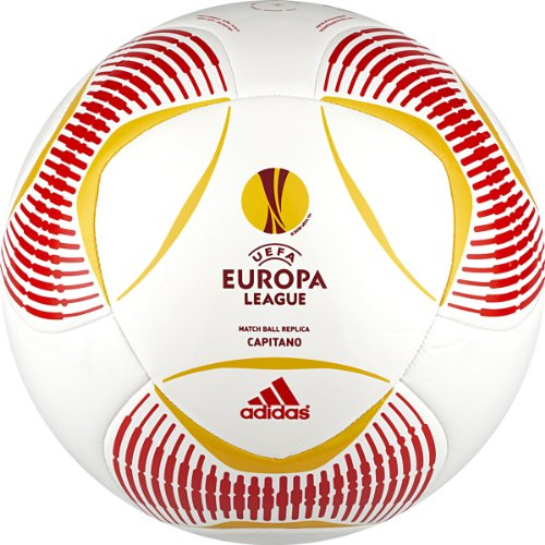 Adidas Predator Europa League Capitano Soccer Ball (White/Red/Yellow, 5)