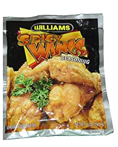 Williams Spicy Wings Seasoned Coating Mix - 6 Packages Of 5oz Each