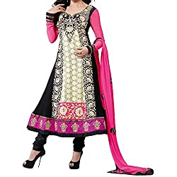 Fabtantra Womens Georgette Anarkali Dress Material (10087 -Multi-Coloured -Free Size)