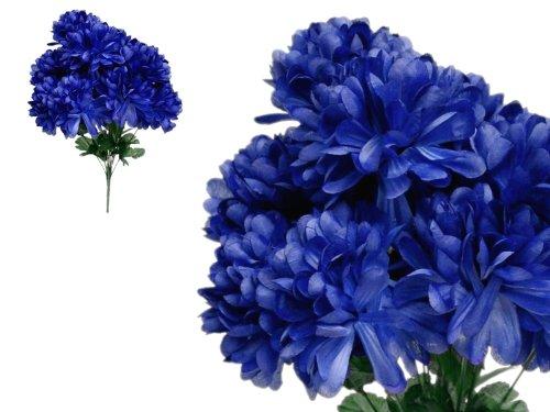 56 Navy Blue Silk Mums Balls Wedding Flowers Bouquets