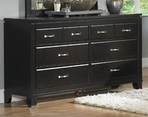 Homelegance Twin Falls 6 Drawer Dresser in Deep Espresso