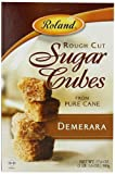 Roland Rough Cut Demerara Sugar Cubes, 17.6-Ounce Boxes (Pack of 6)