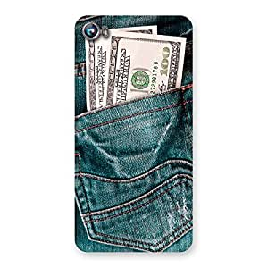 Special Dollars Jeans Back Case Cover for Micromax Canvas Fire 4 A107