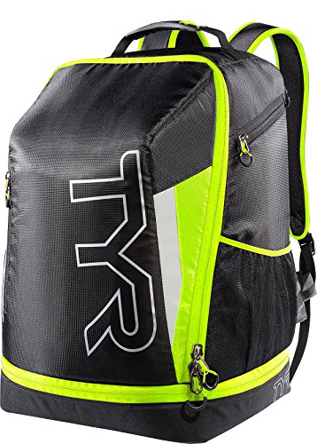 TYR Apex Transition Zaino da Triathlon, Nero/Giallo Fluo