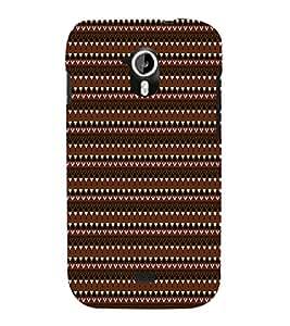EPICCASE ethnic pattern Mobile Back Case Cover For Micromax Canvas 2 A110 (Designer Case)