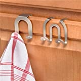 Spectrum 67971 Over The Cabinet Door Double Hook, Brushed Nickel