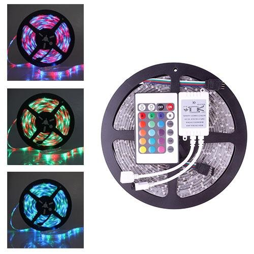Home Useful 5M 3528 Smd Rgb Waterproof 300 Led Light Strip 12V 24 Key Ir Remote Controller