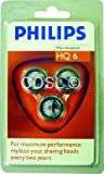 PHILIPS HQ6 QUADRA PHILISHAVE / NORELCO SHAVING SHAVER HEADS BLADES CUTTERS FOILS REPLACEMENT HEAD 3 PACK RRP £40