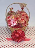 Scott's Cakes Small Valentines Day Cookie Lovers Basket with Handle Heart Wrapping
