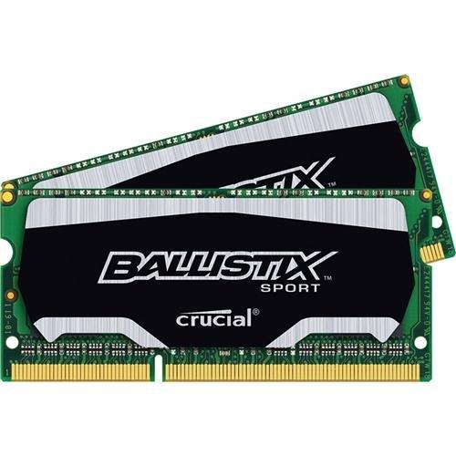 Crucial Technology Ballistix Sport Series 8GB (2x 4GB) 240-Pin SODIMM DDR3 (PC3-12800) Server Memory Module Kit, CL=9, Unbuffered, 1600 MT/S Speed, Non-ECC, 1.35V, 512Meg x 64, Single Rank (8gb Memory Module compare prices)