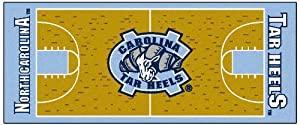 Buy FANMATS NCAA UNC University of North Carolina - Chapel Hill Tar Heels Nylon Face Basketball Court Runner by Fanmats