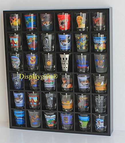 Shot Glass Display Shelf, NO DOOR (Shot Glass Wall Display compare prices)