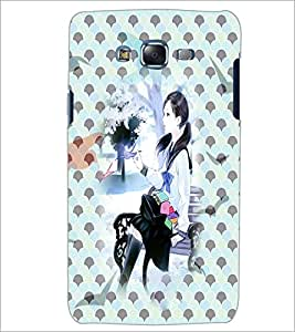 PrintDhaba Cute Girl D-3974 Back Case Cover for SAMSUNG GALAXY ON 5 (Multi-Coloured)