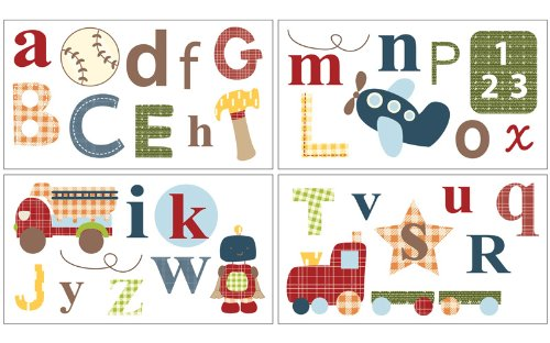 Cocalo Removable Wall Appliques, A to Z Boy (Discontinued by Manufacturer)