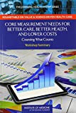 img - for Core Measurement Needs for Better Care, Better Health, and Lower Costs: Counting What Counts: Workshop Summary (The Learning Health System Series) book / textbook / text book