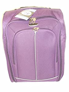 Purple 40l Borderline 2 Wheeled Super Lightweight Hand Luggage Holdall Onboard Flight Bag Cabin Suitcase by Borderline