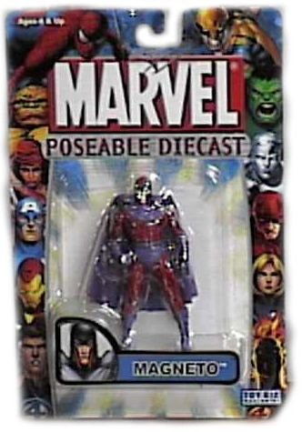 Marvel Poseable Diecast Magneto Figure by Toy Biz - 1