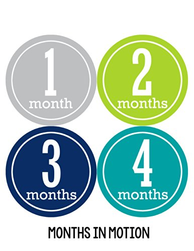 Months in Motion 162 Months in Motion Monthly Baby Stickers Baby Boy Months 1-12