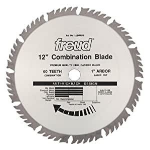 Freud lu84m012 12 inch 60 tooth atb combination saw blade for 12 inch table saw blades