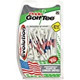 "Pride Golf Tee Evolution Golf Tees (Pack Of 30), 2 3/4"", American Flag"