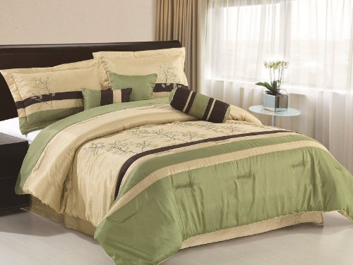 Brown And Red Bedding 8095 front
