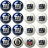 Imperial Officially Licensed NFL Merchandise: Home vs. Away Billiard/Pool Balls, Complete 16 Ball Set, New York Giants