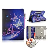 Casezilla Amazon Kindle Paperwhite 3G 360 Degrees Universal PU Leather Tablet Case - Electric Butterfly