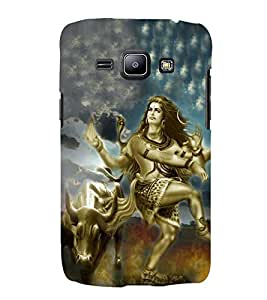 Bhagwan Shankar in Tandav 3D Hard Polycarbonate Designer Back Case Cover for Samsung Galaxy J2 (2016)
