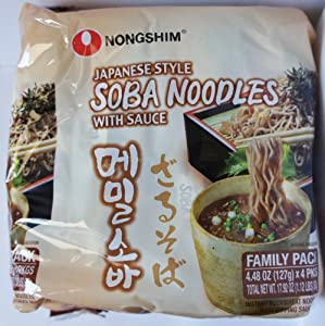 Japanese Style Soba Noodles with Sauce (Family Pack of 4)